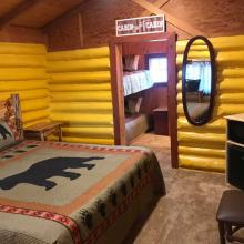 Ashton Log Cabin Rentals, Cabin 1 - bed